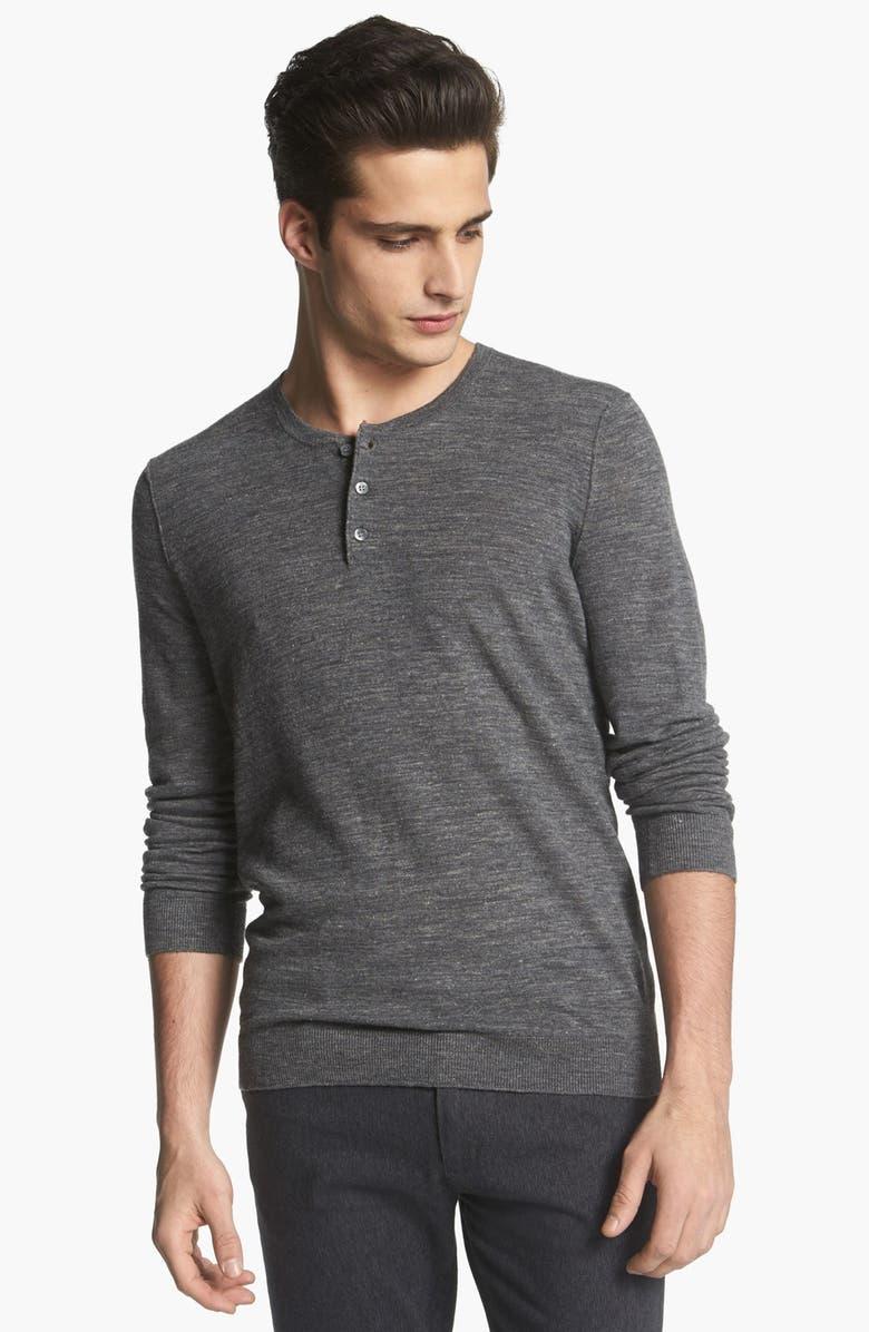 VINCE Lightweight Henley Sweater, Main, color, 020