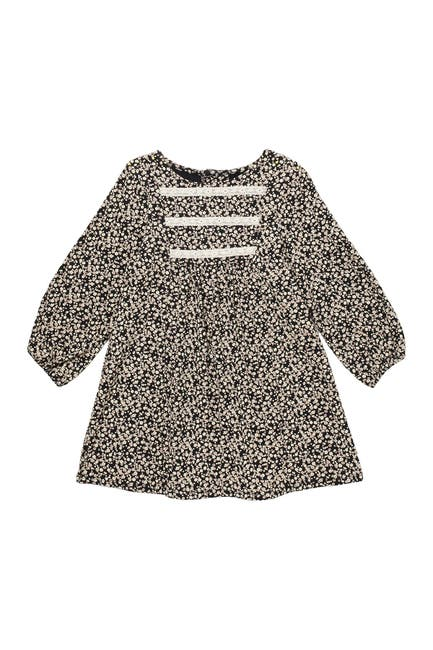 Image of Pastourelle by Pippa and Julie Floral Print & Lace Long Sleeve Dress