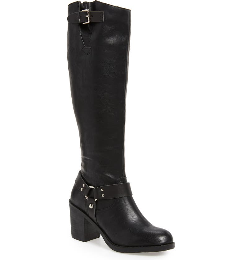 SBICCA Dimarco Knee High Boot, Main, color, BLACK FAUX LEATHER