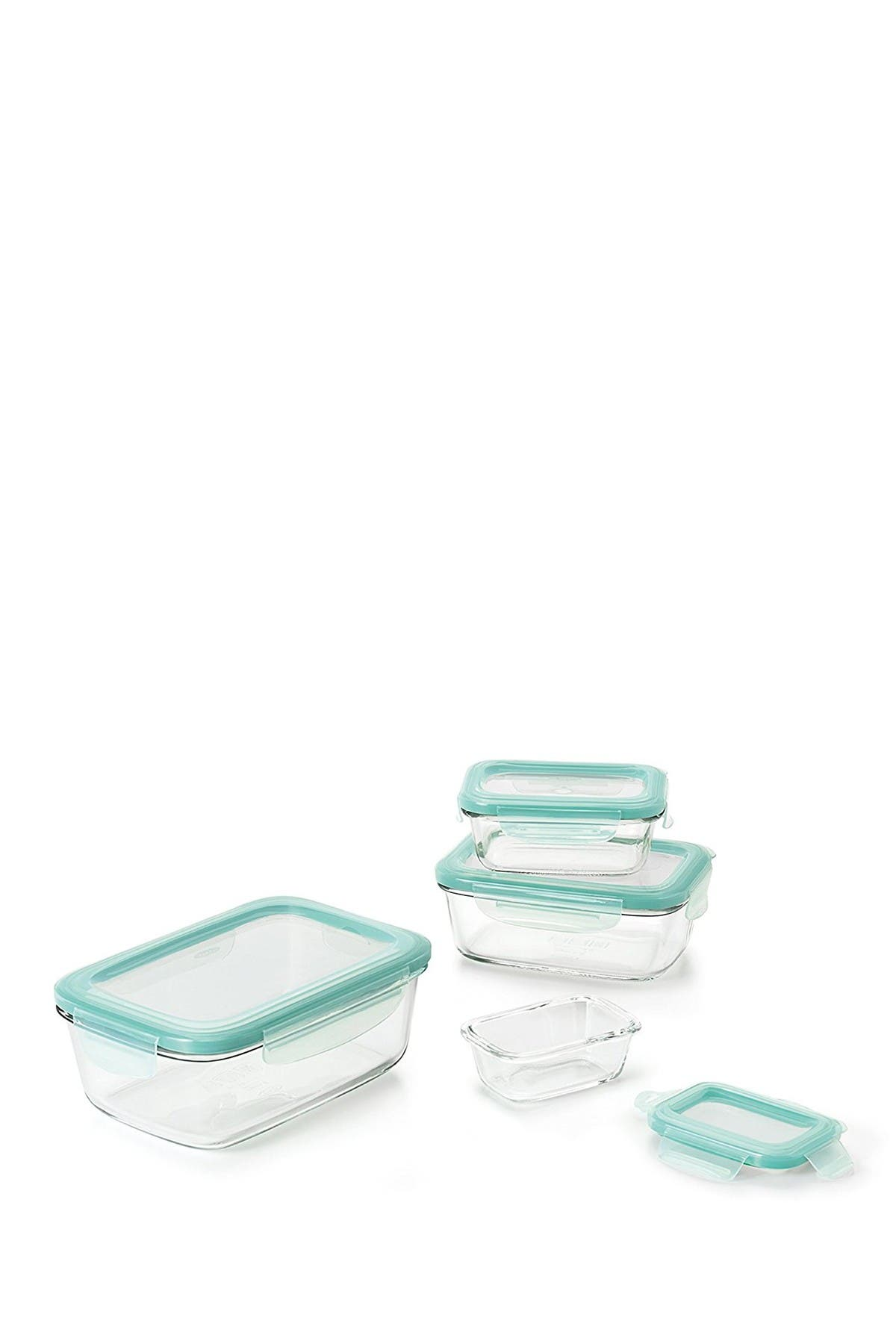 Image of Oxo Good Grips 8-Piece Smart Seal Glass Container Set