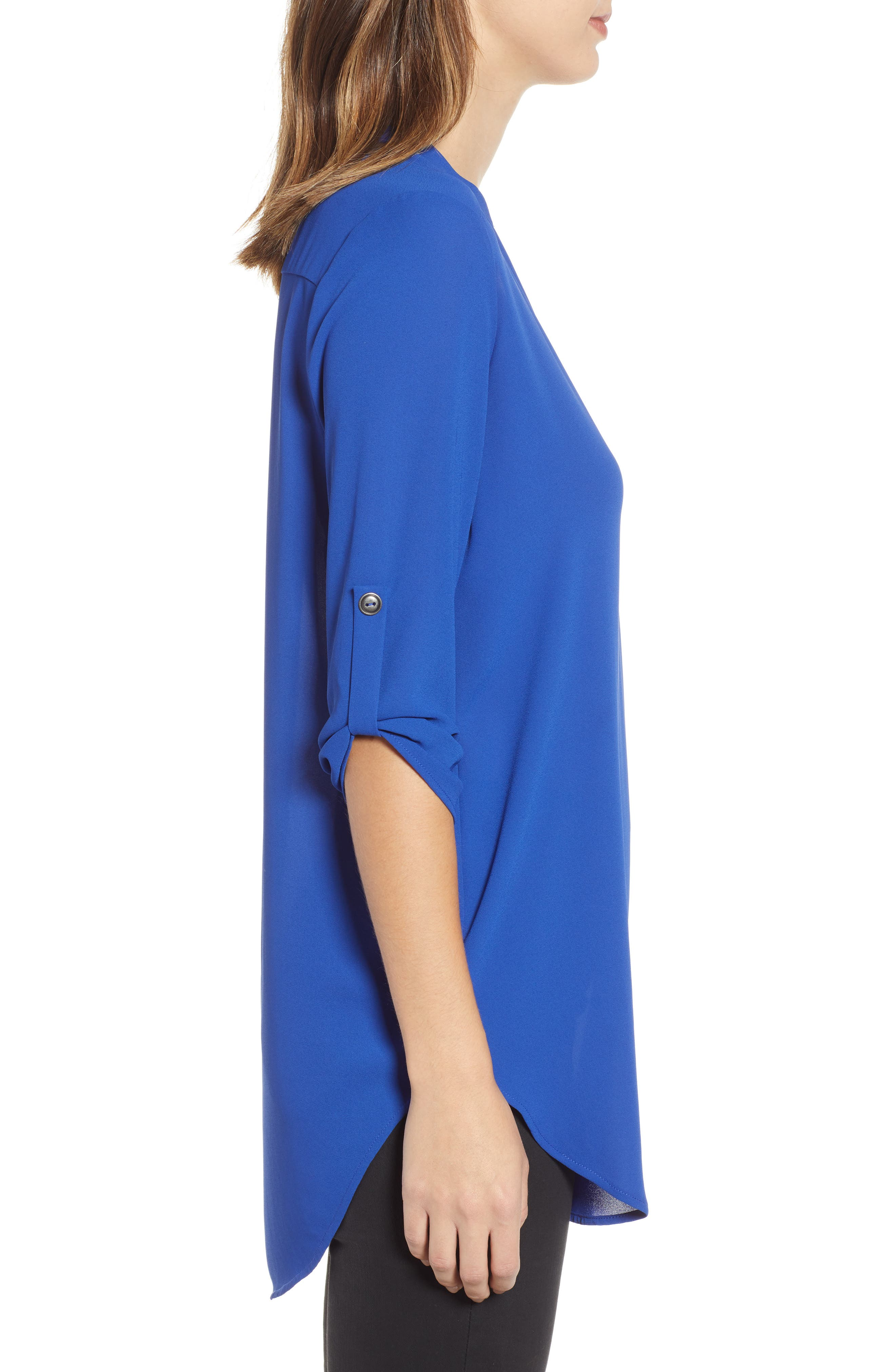 ,                             Perfect Roll Tab Sleeve Tunic,                             Alternate thumbnail 8, color,                             416
