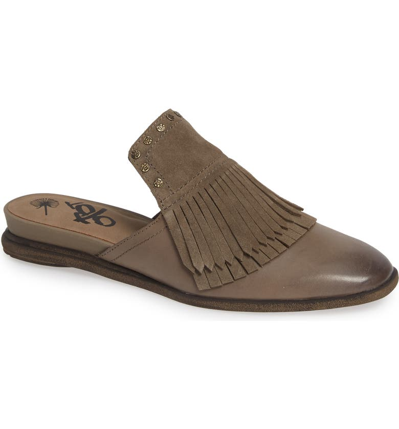 OTBT Gleam Mule, Main, color, STONE LEATHER/ SUEDE