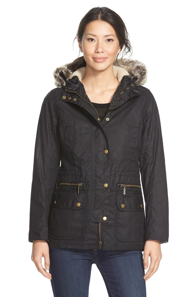 Ladies Wax Parka Coats