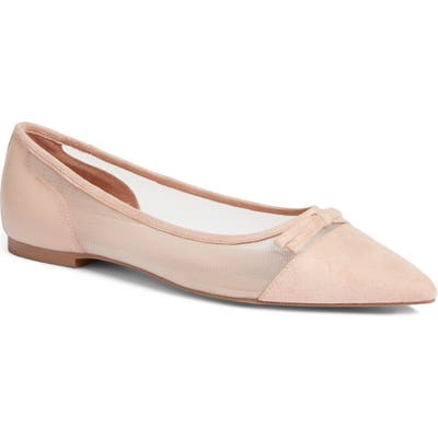 Halogen X Atlantic-Pacific Sadee Pointed Toe Flat- Pink (Nordstrom Exclusive)