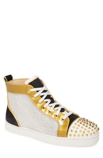 Christian Louboutin Sneakers CRYSTAL EMBELLISHED GLITTER HIGH TOP SNEAKER