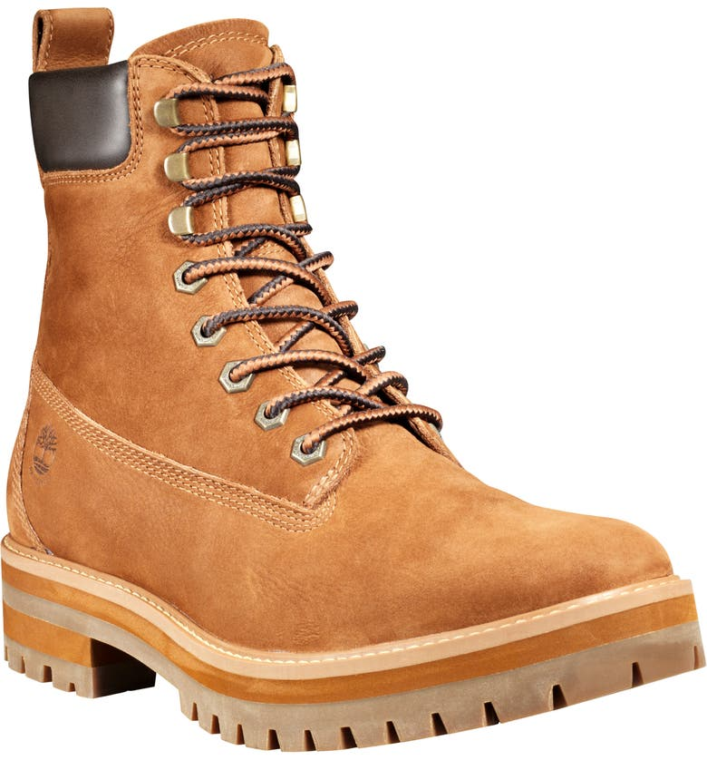 TIMBERLAND Courmaguy Waterproof Plain Toe Boot, Main, color, RUST NUBUCK
