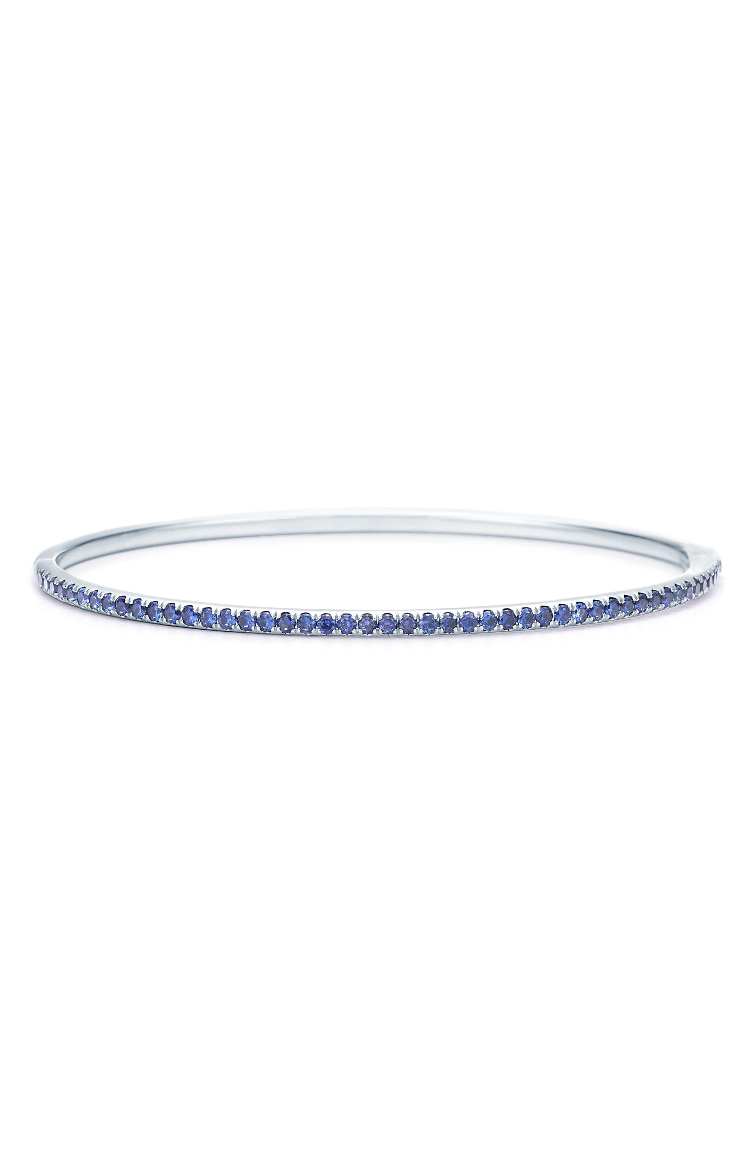 Sapphire Stacking Bracelet, Main, color, WHITE GOLD