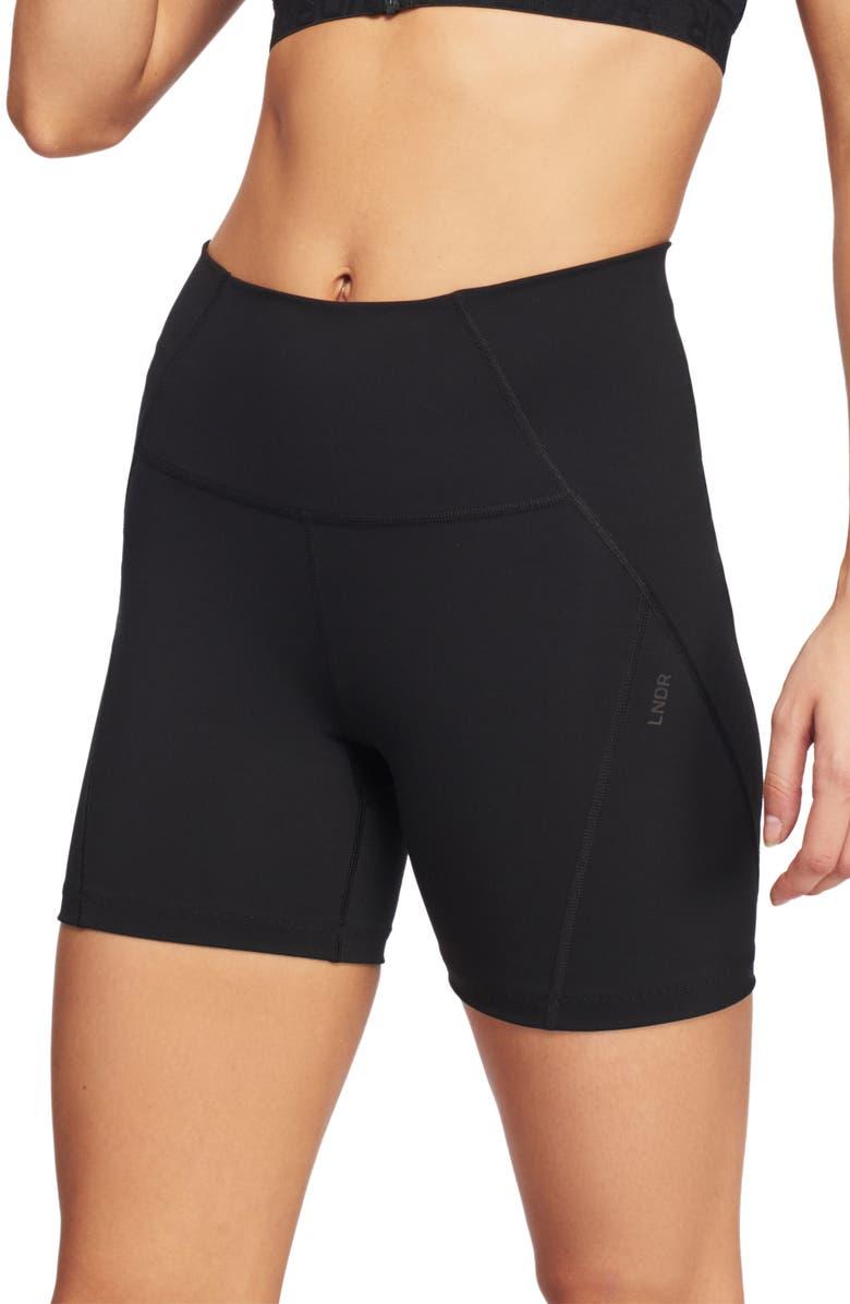 LNDR Compression Bike Shorts, Main, color, BLACK