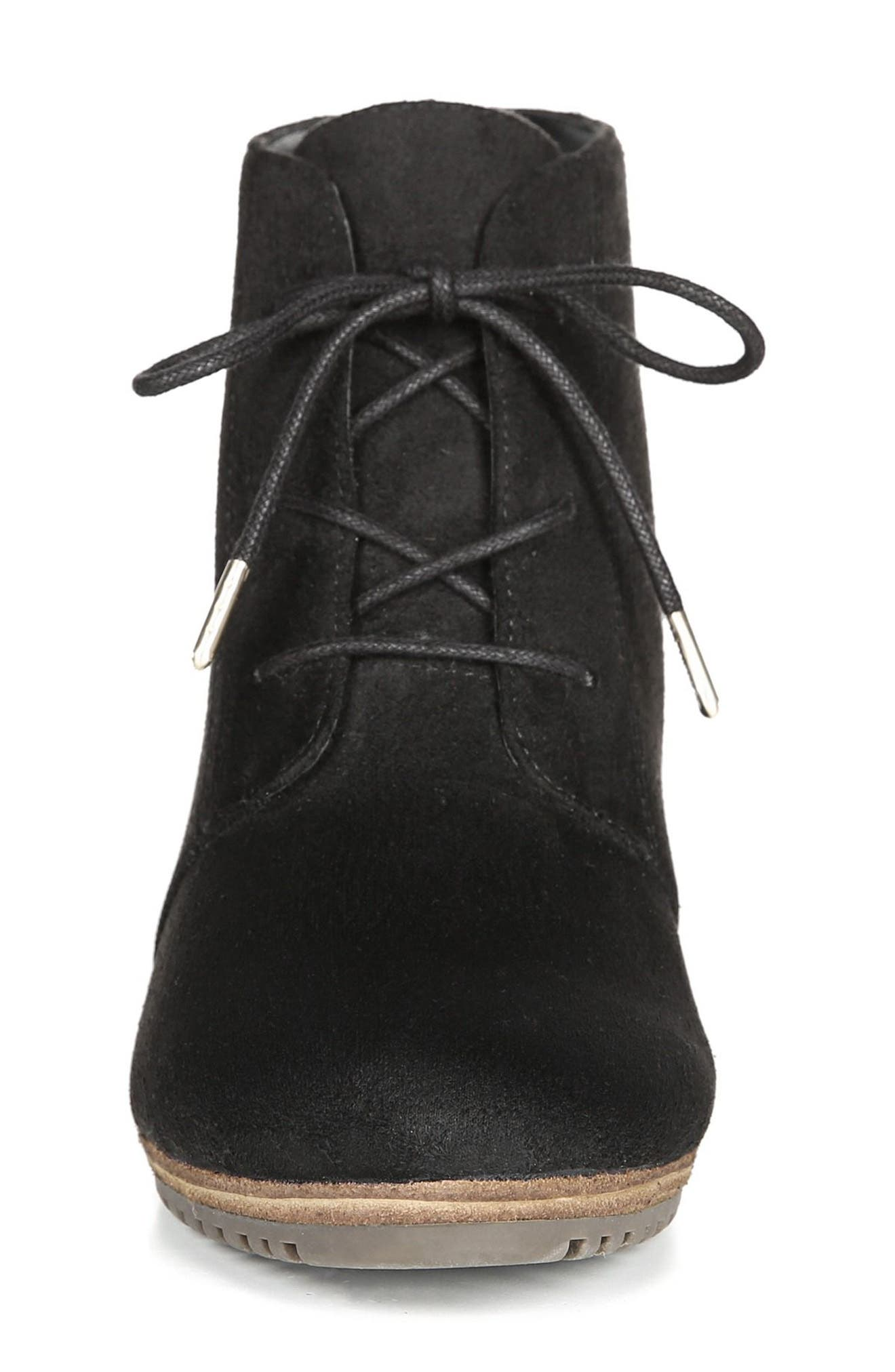 ,                             Conquer Wedge Bootie,                             Alternate thumbnail 3, color,                             BLACK FABRIC