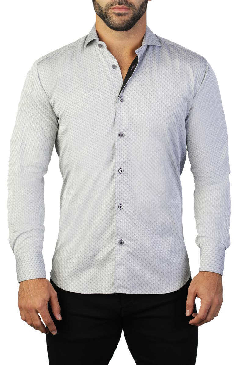 MACEOO Einstein Grey Regular Fit Shirt, Main, color, GREY