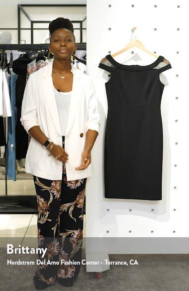 Mesh Inset Sheath Dress, sales video thumbnail