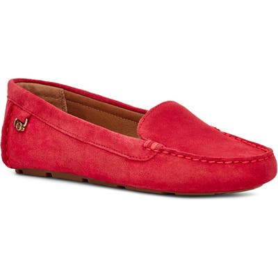 UGG Flores Driving Loafer - Red