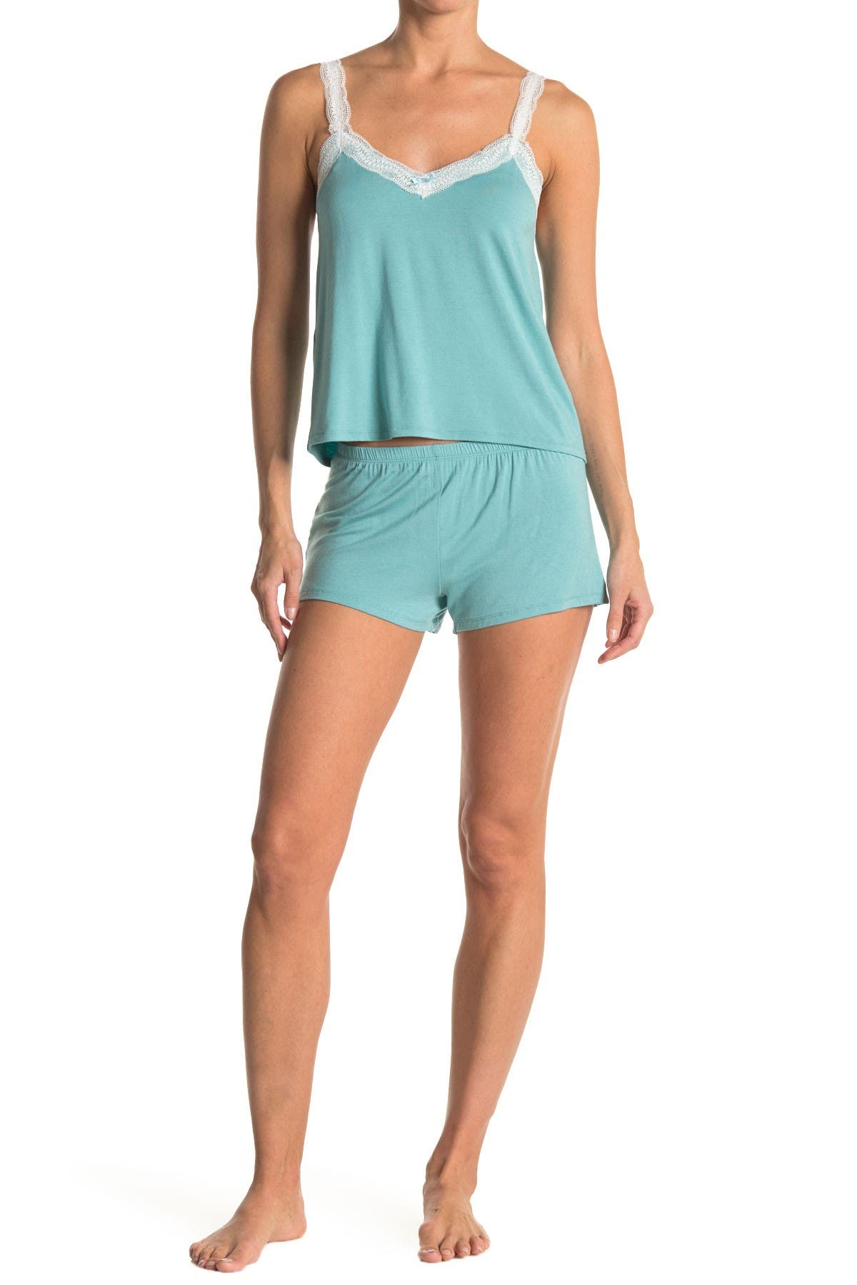 Image of COZY ROZY Jersey Cami & Short Pajama Set