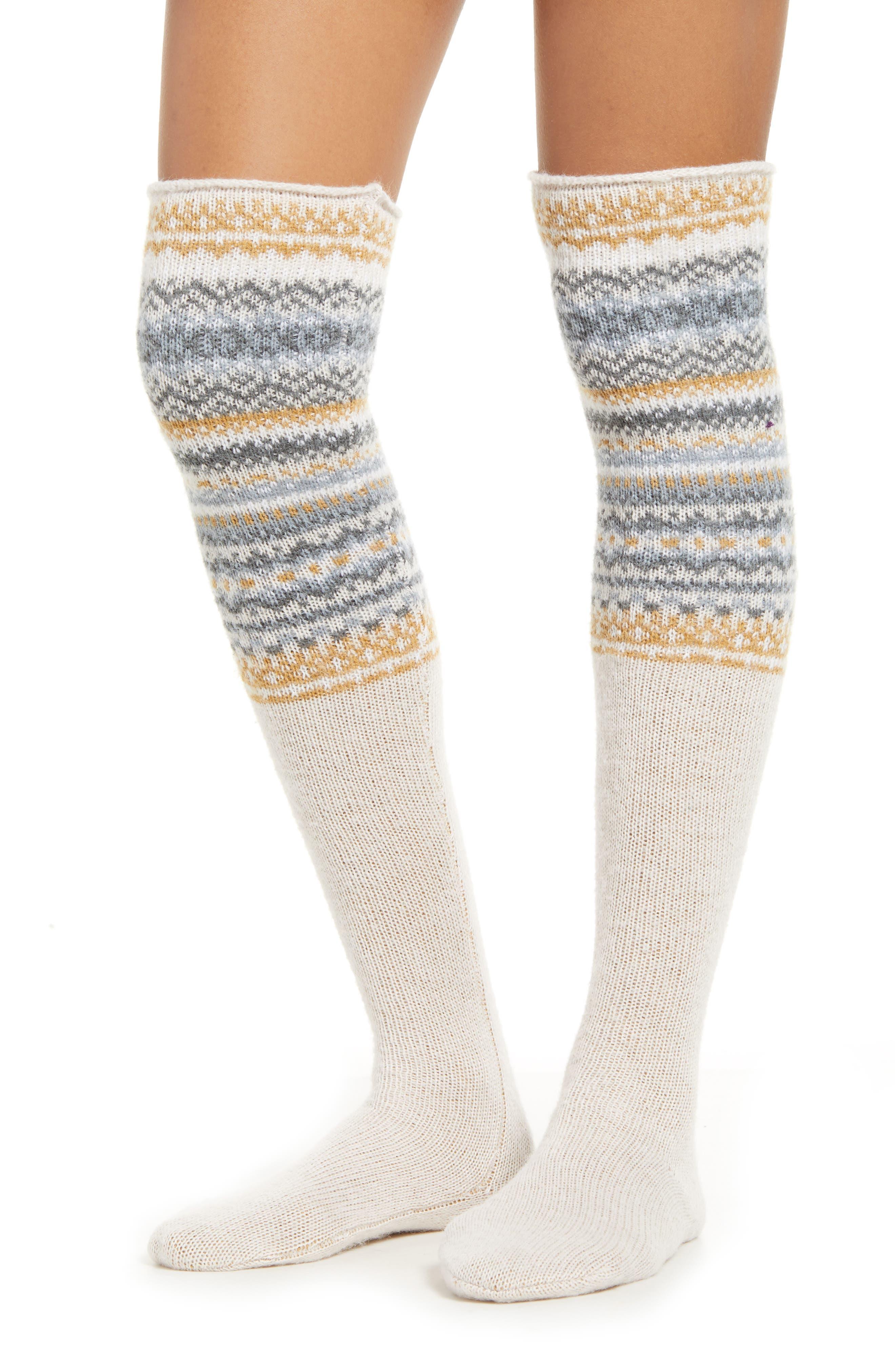 Lemon Whistler Cable Over the Knee Socks