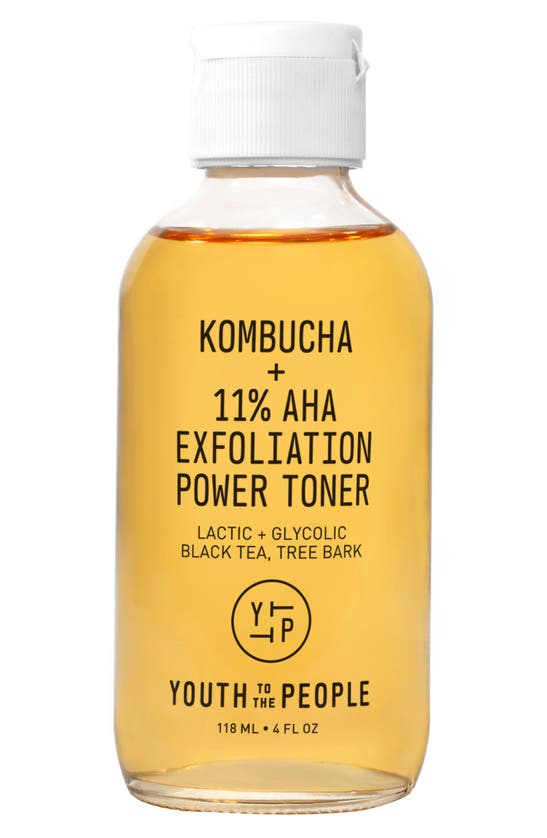 Youth To The People Kombucha + 11% Aha Exfoliation Toner With Lactic Acid 4 oz/ 118 ml In Yellow