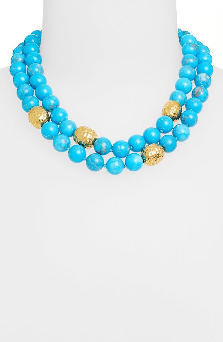 SIMON SEBBAG Two-Strand Stone & Vermeil Necklace, Main, color, 440