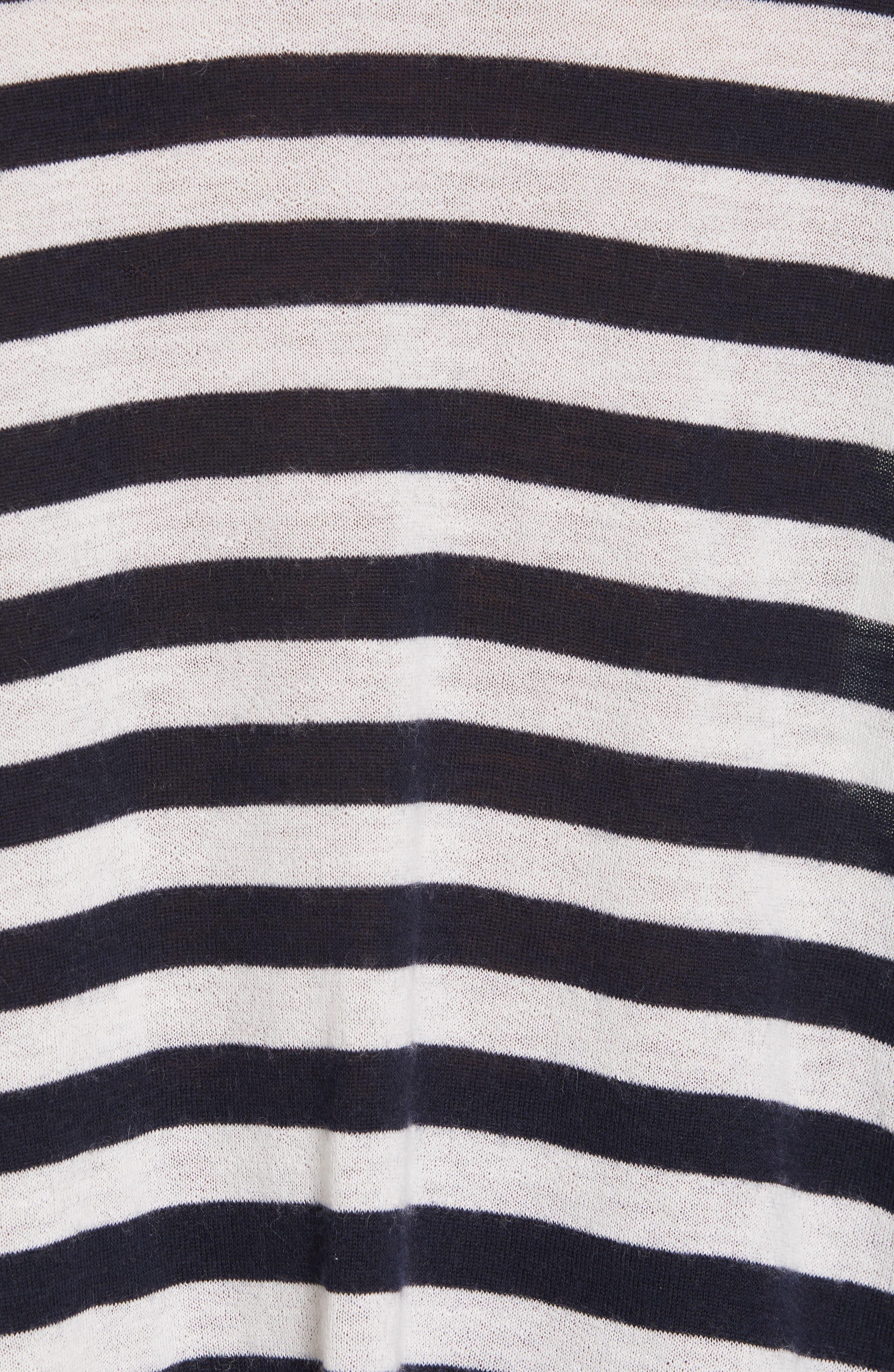 ,                             Stripe Boxy Wool & Cashmere Sweater,                             Alternate thumbnail 5, color,                             COASTAL/ CREAM