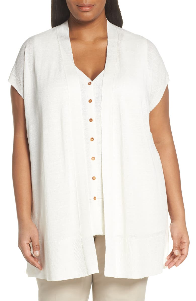 LAFAYETTE 148 NEW YORK Linen Blend Sweater, Main, color, 100
