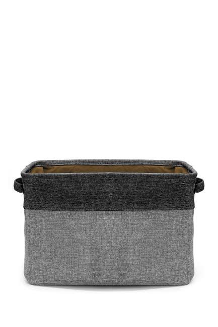 Image of Sorbus Black Twill Storage Basket - Set of 3