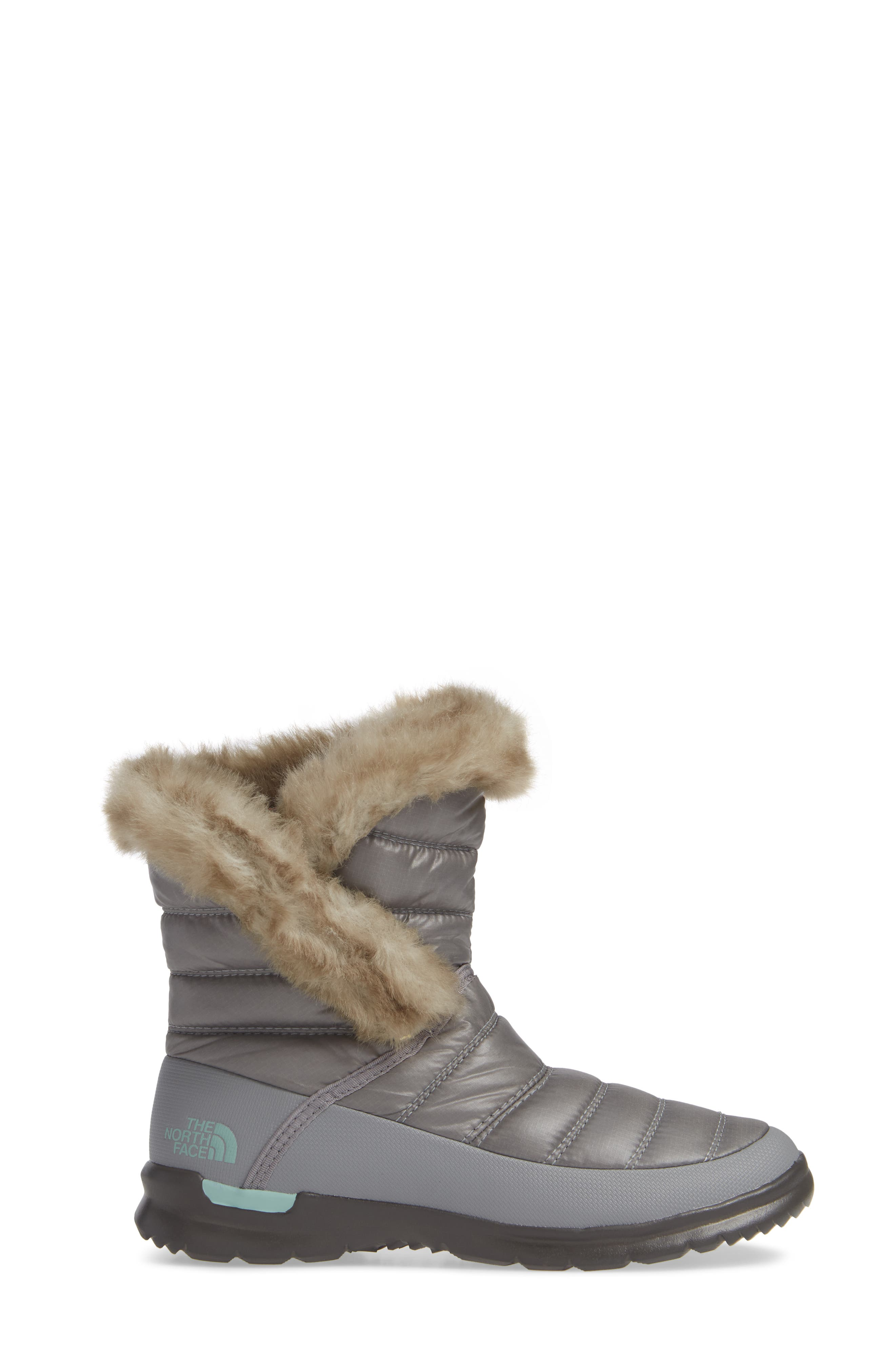 ,                             Microbaffle Waterproof ThermoBall<sup>®</sup> Insulated Winter Boot,                             Alternate thumbnail 3, color,                             SHINY FROST GREY/ BLUE HAZE