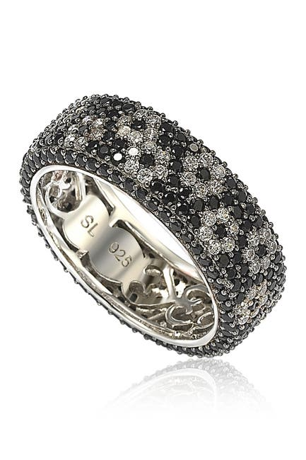 Image of Suzy Levian Sterling Silver CZ Flower Ring