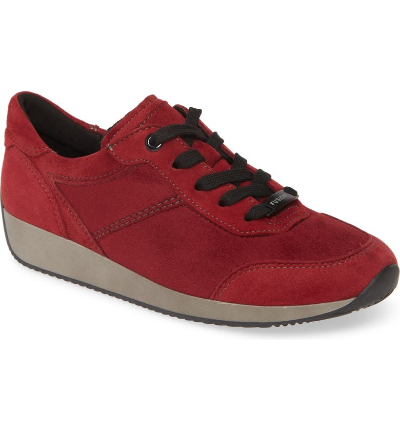 ARA Lana Sneaker, Main, color, CARDINAL SUEDE