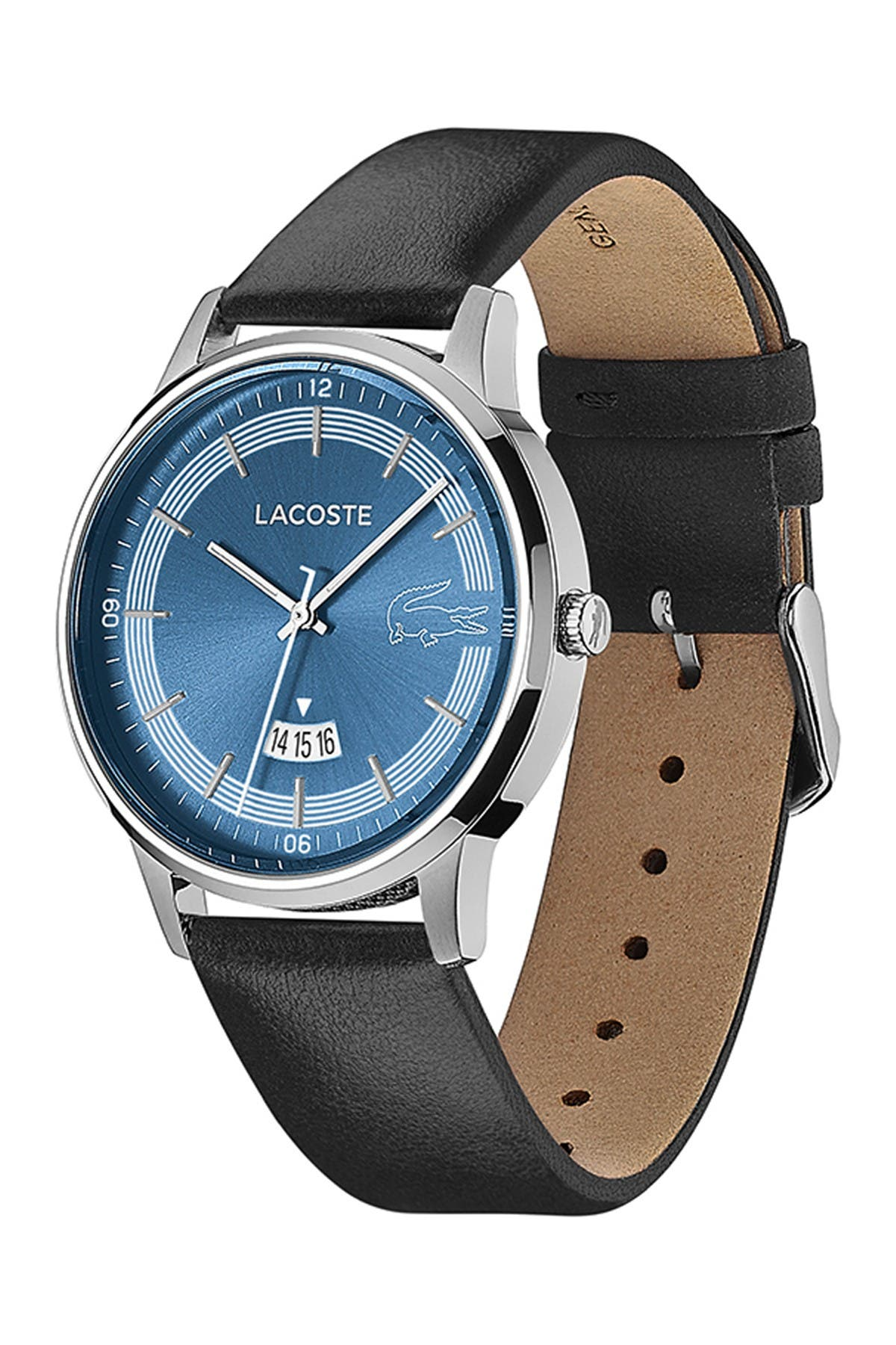 Image of Lacoste Men's Madrid Leather Strap Watch, 41mm