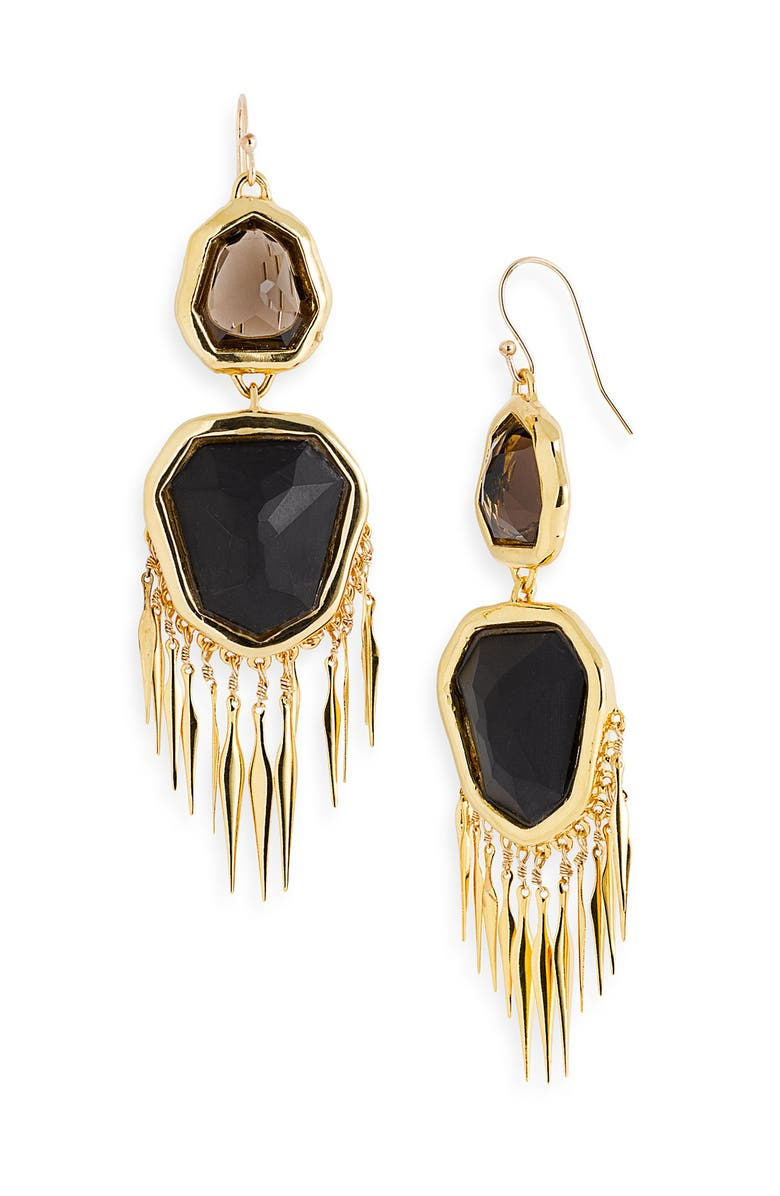 ALEXIS BITTAR 'Miss Havisham' Large Fringe Earrings, Main, color, 710