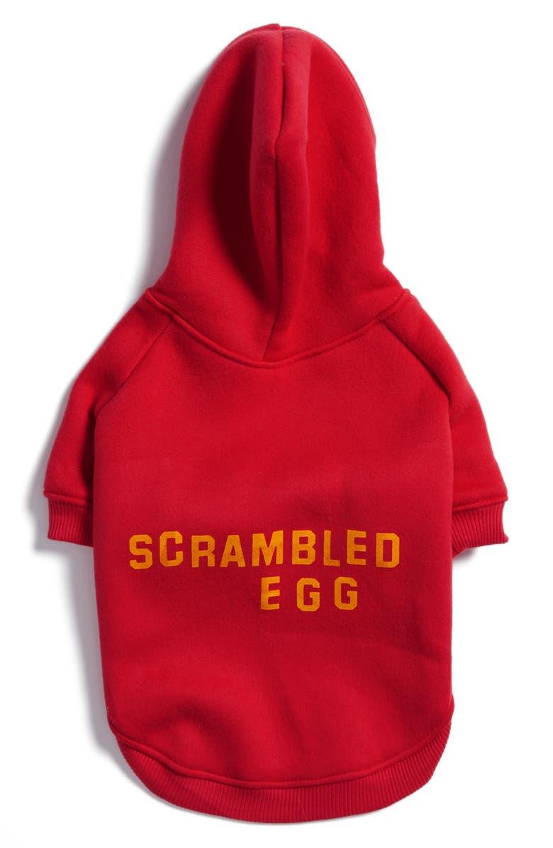 KATIE KIMMEL Scrambled Egg Dog Hoodie, Main, color, RED