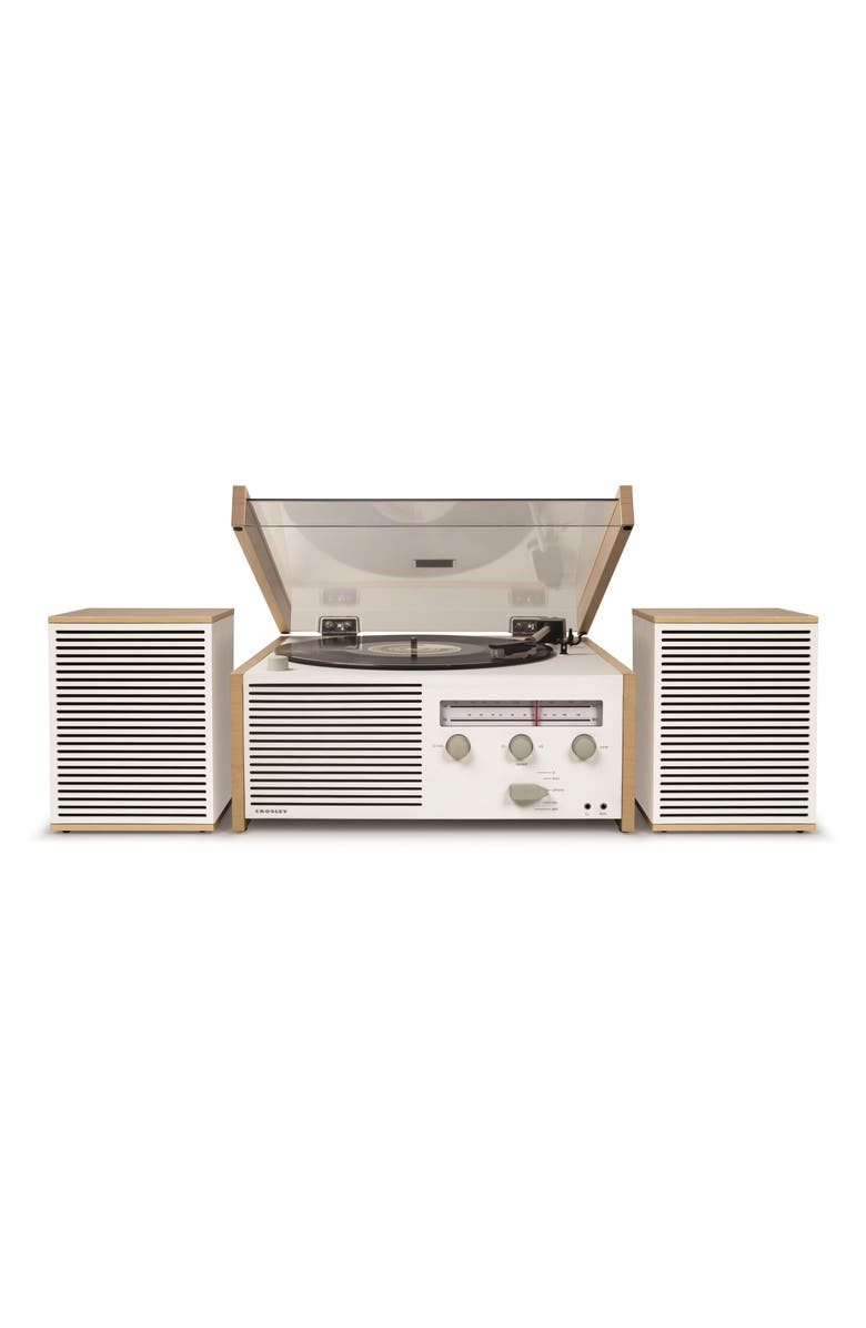 CROSLEY RADIO Switch II Turntable & Speakers Entertainment System, Main, color, NATURAL