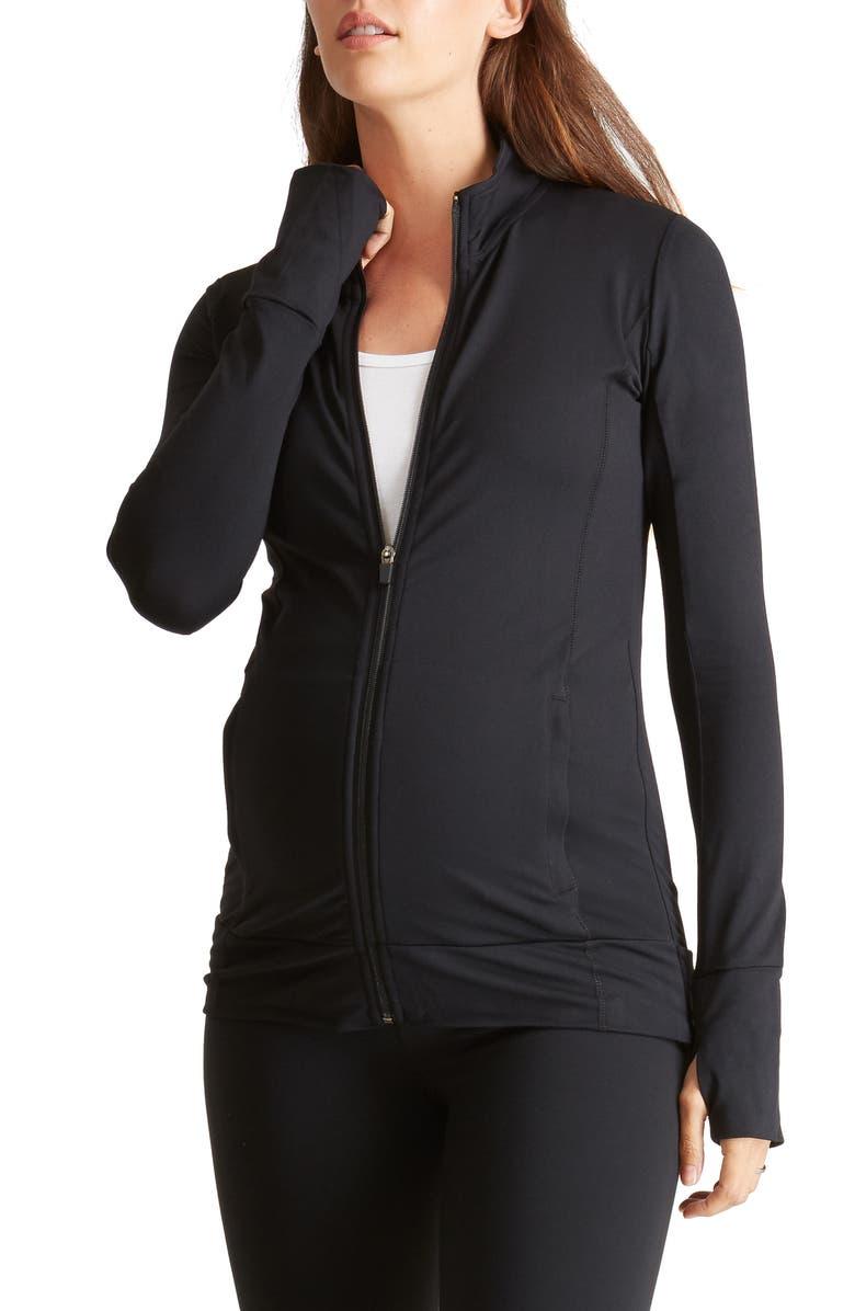INGRID & ISABEL<SUP>®</SUP> Ingrid & Isabel Active Maternity Jacket, Main, color, 001