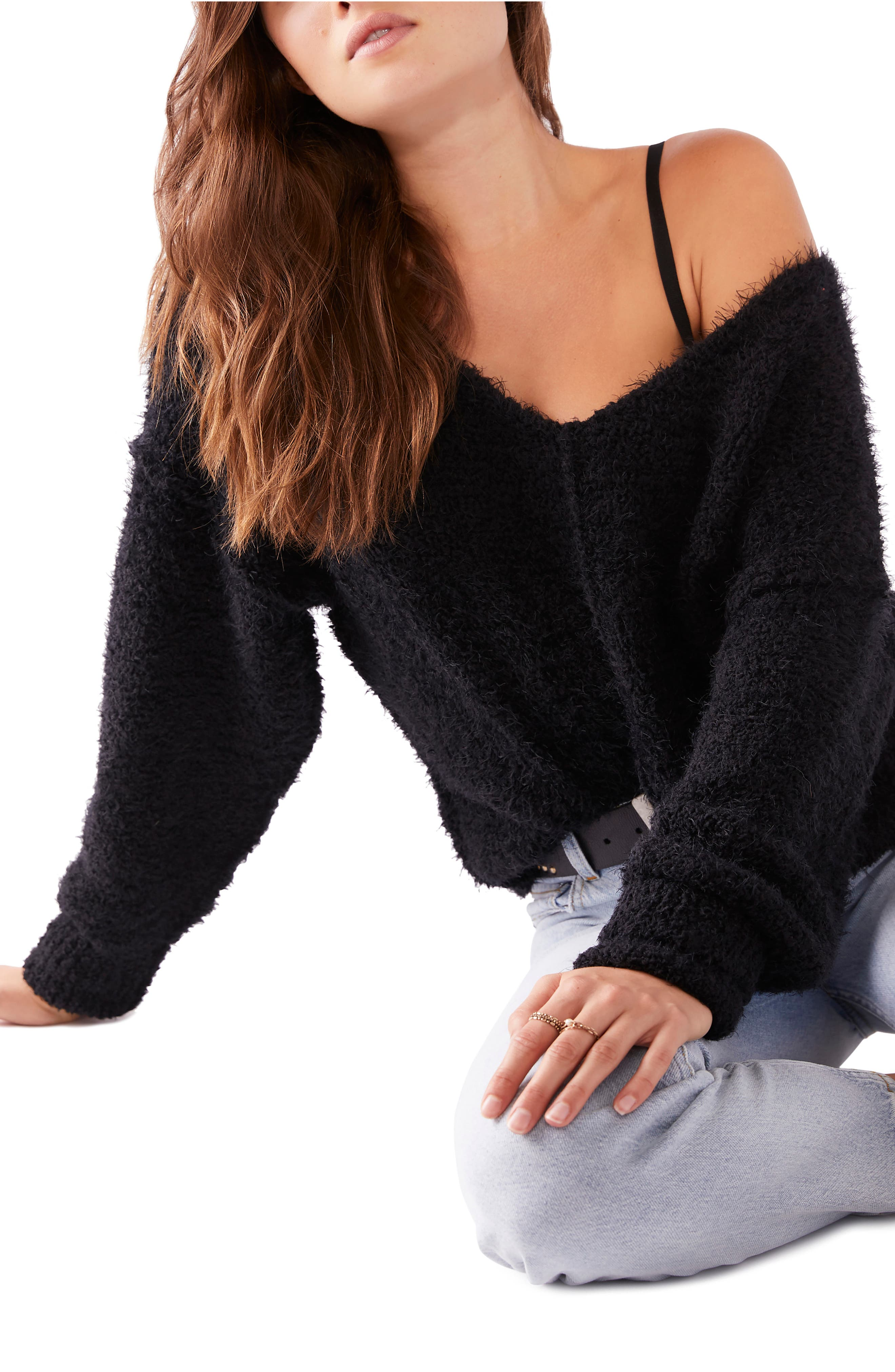 Image of Free People Icing V-Neck Sweater