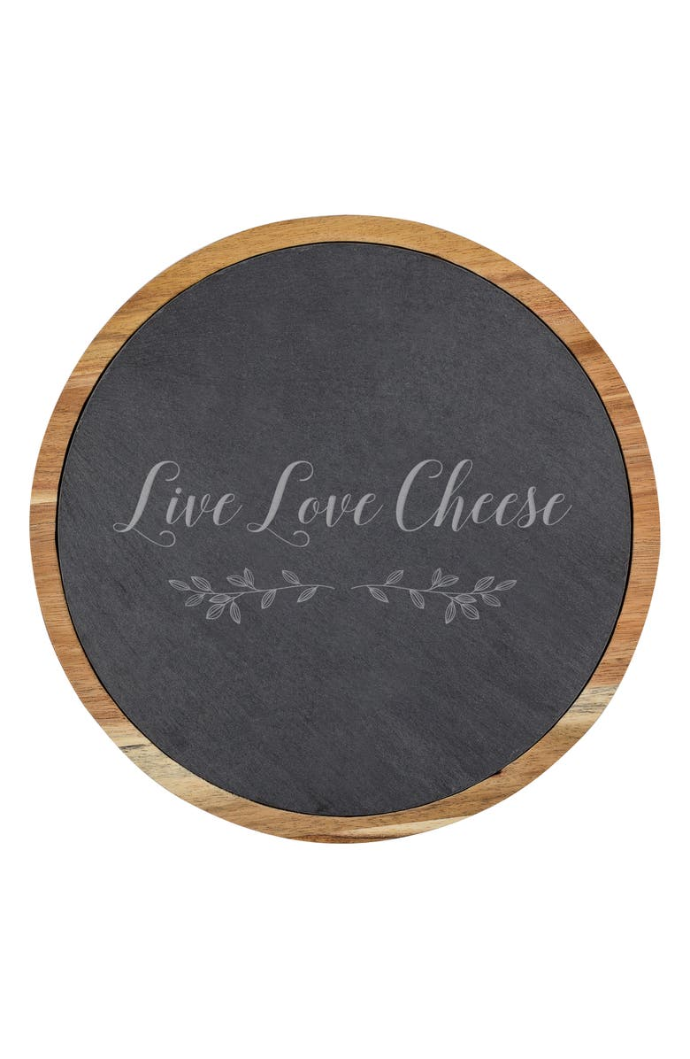 CATHY'S CONCEPTS Live Love Cheese Board & Utensil Set, Main, color, BROWN