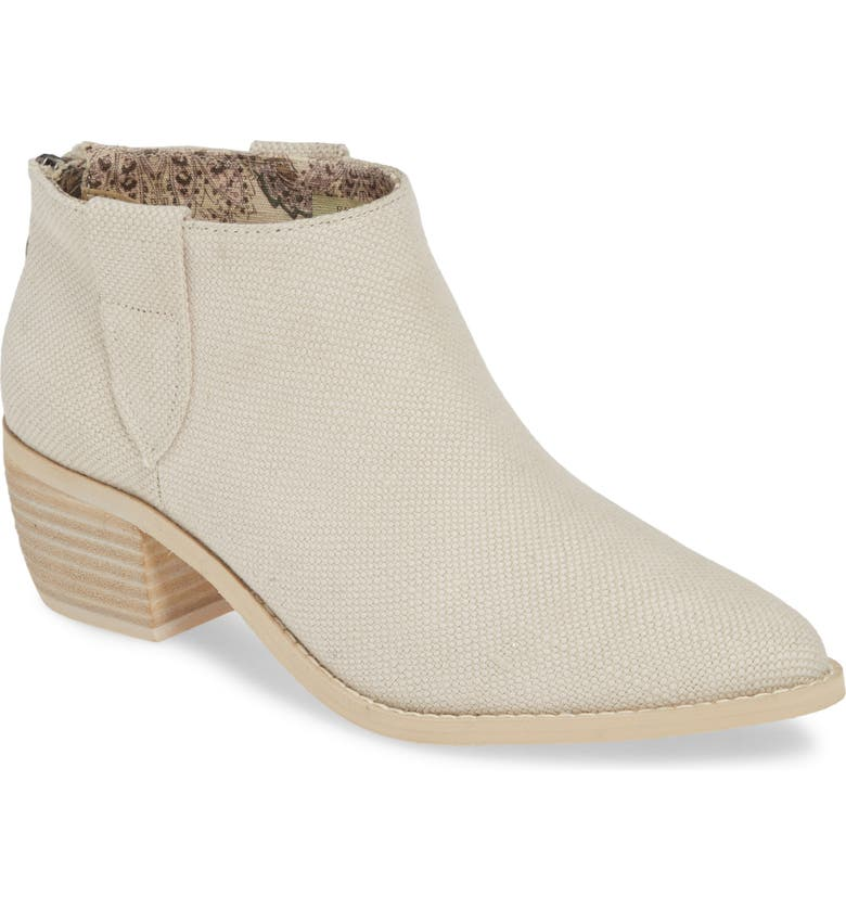 BAND OF GYPSIES Rainier Bootie, Main, color, ECRU LINEN CANVAS