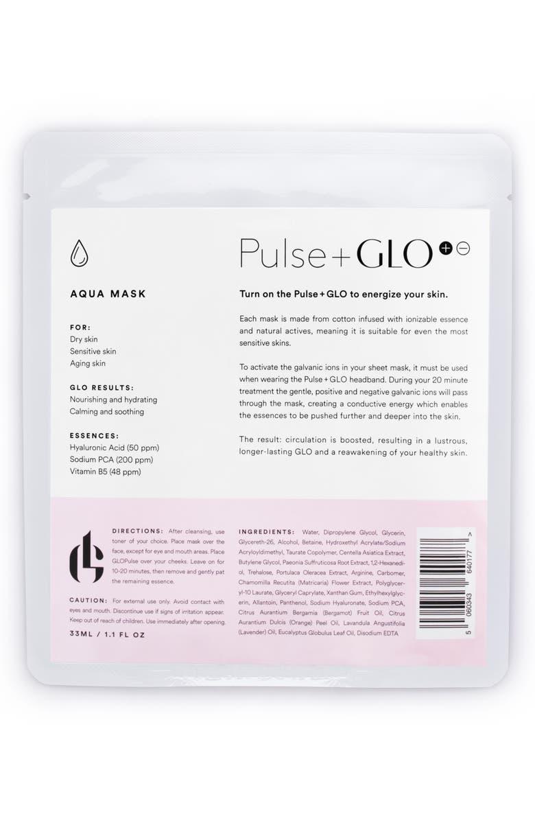 PULSE+GLO Aqua Sheet Mask, Main, color, NO COLOR