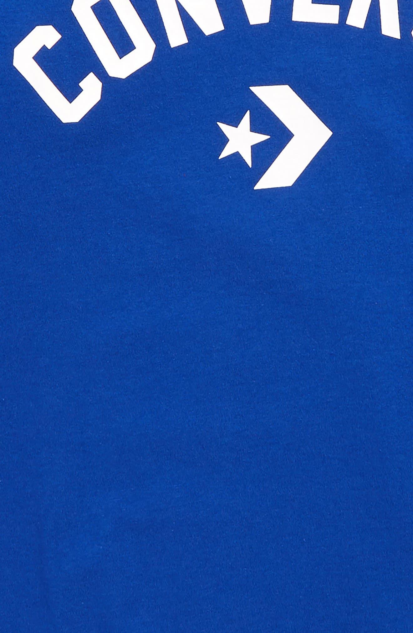 ,                             Split Hem T-Shirt,                             Alternate thumbnail 2, color,                             CONVERSE BLUE