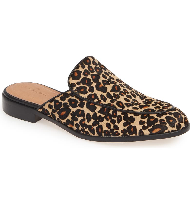 CASLON<SUP>®</SUP> Evelyn Genuine Calf Hair Mule, Main, color, LEOPARD PRINT CALF HAIR