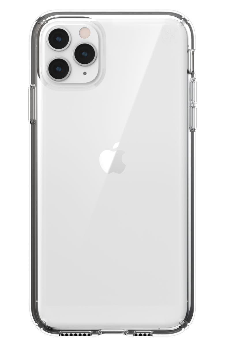 SPECK Presidio Stay Clear iPhone 11/11 Pro/11 Pro Max Phone Case, Main, color, 001