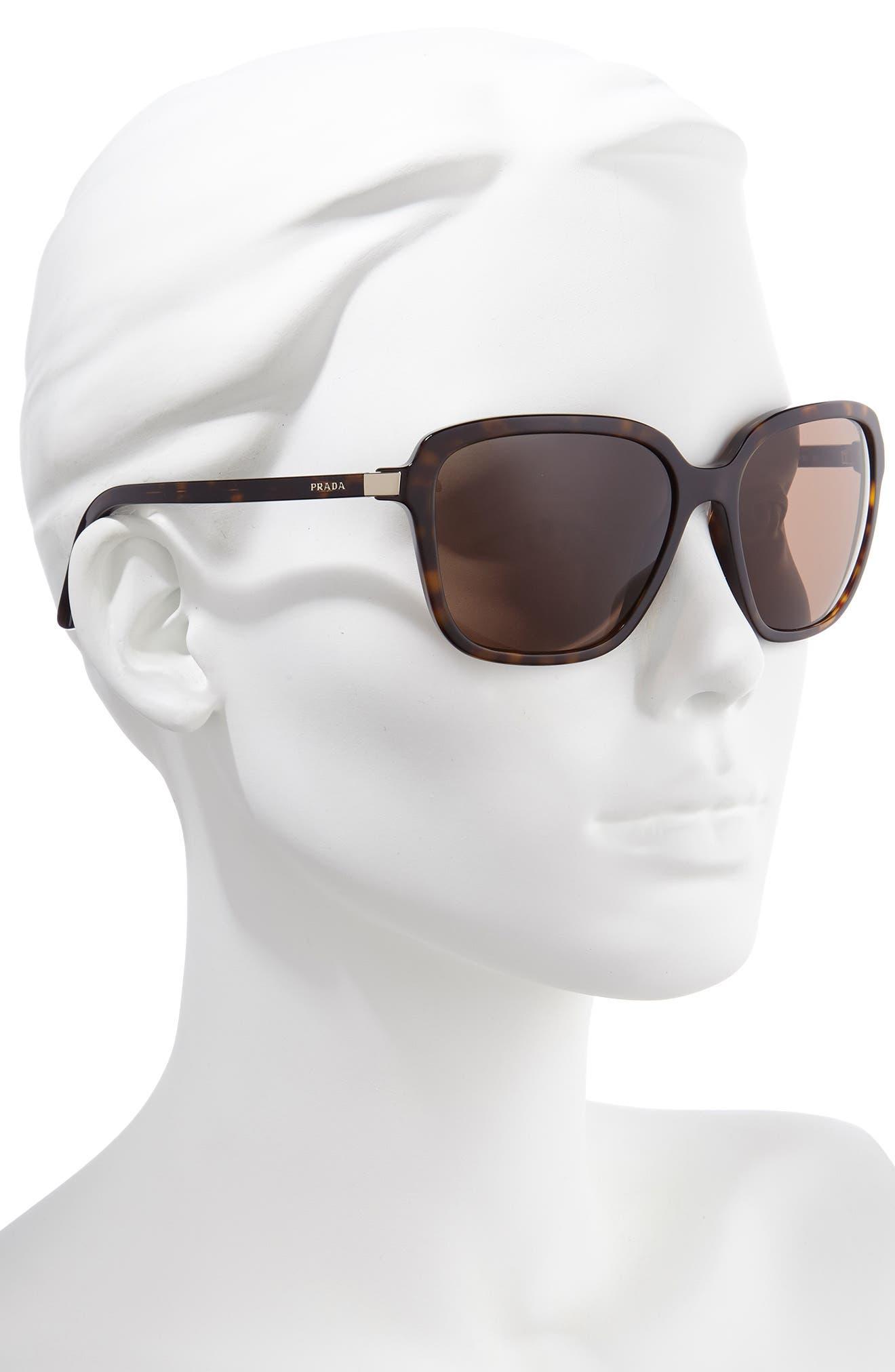 Prada Sunglasses Pillow 58mm Square Sunglasses