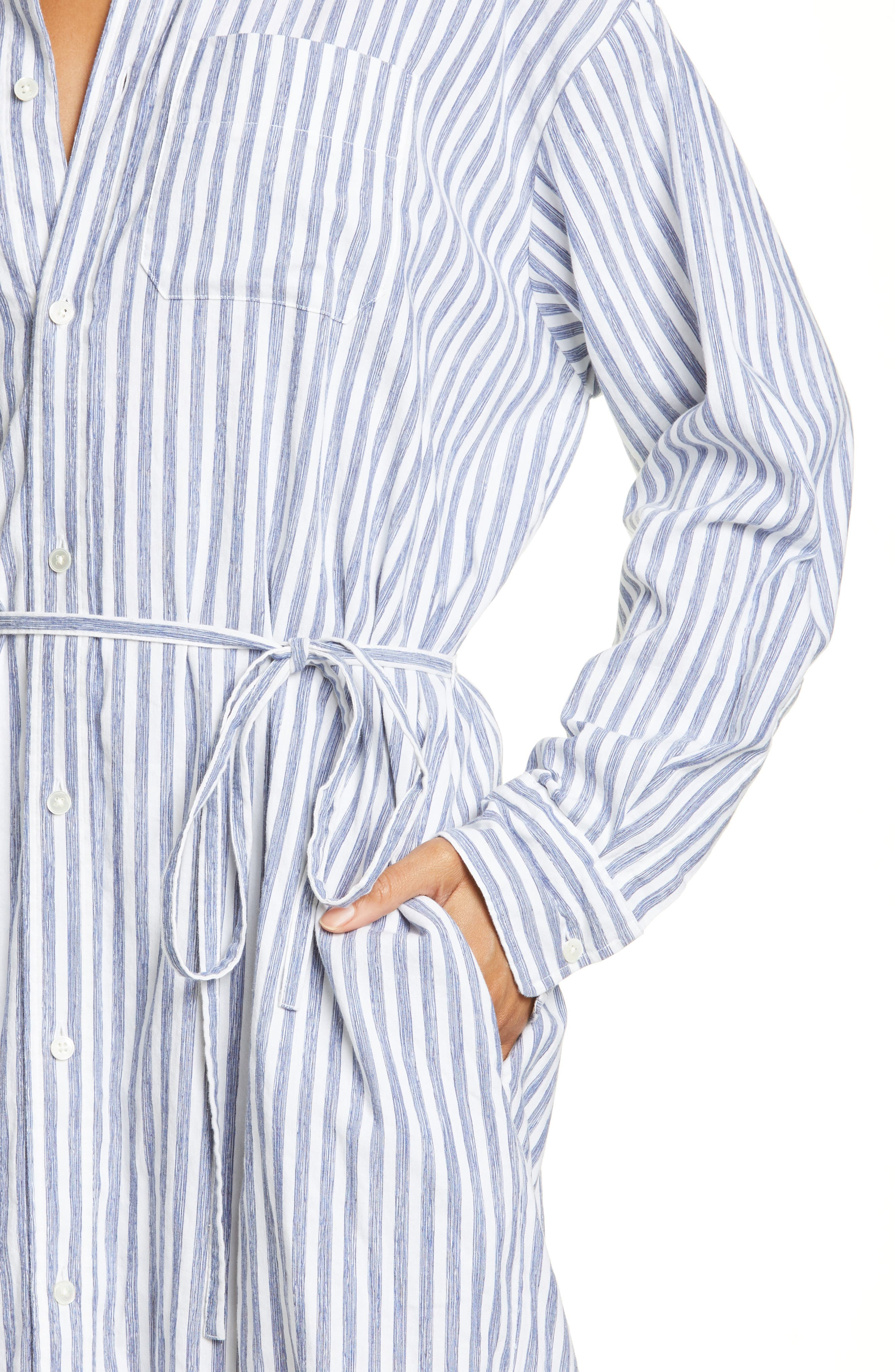 ,                             Oversize Stripe Shirt,                             Alternate thumbnail 4, color,                             INDIGO