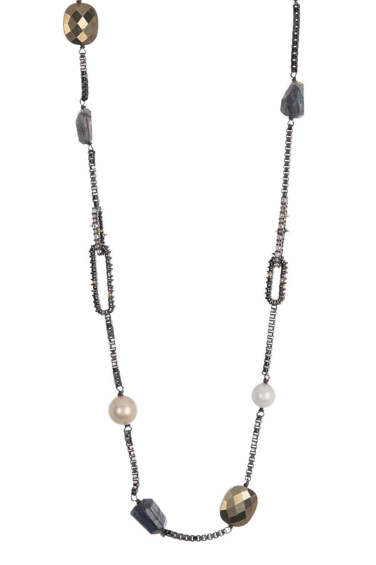 Image of Alexis Bittar Beaded Stone Station Necklace