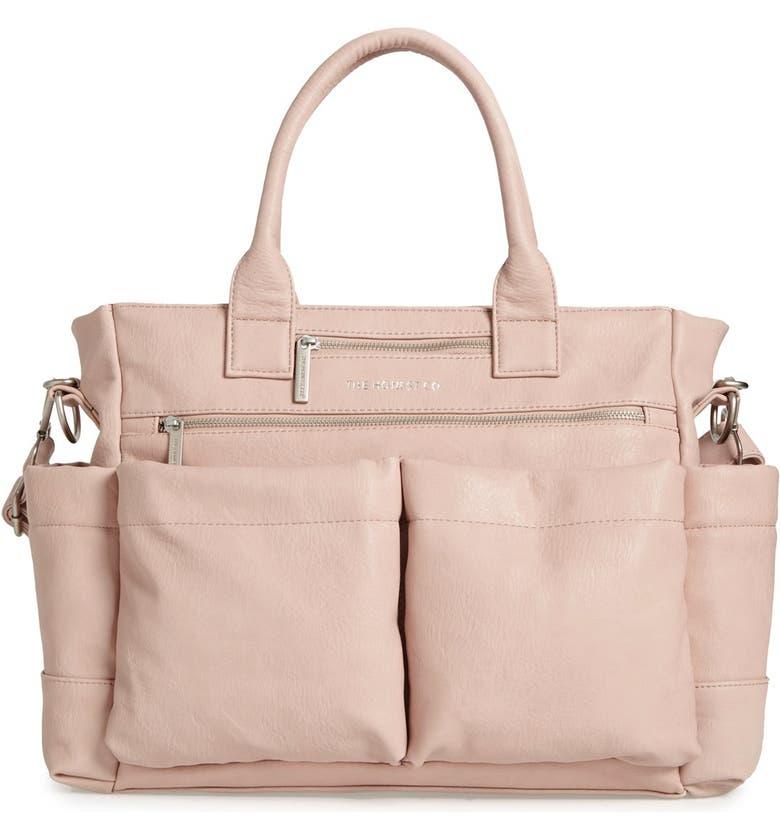 Faux Leather Diaper Bag