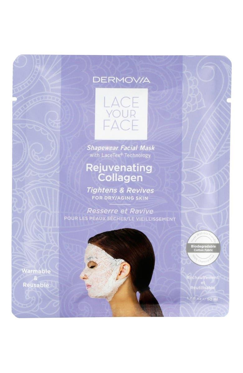 DERMOVIA Lace Your Face Rejuvenating Collagen Compression Facial Mask, Main, color, 000