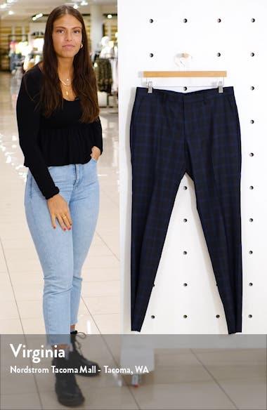 Huge Flat Front Plaid Wool Dress Pants, sales video thumbnail