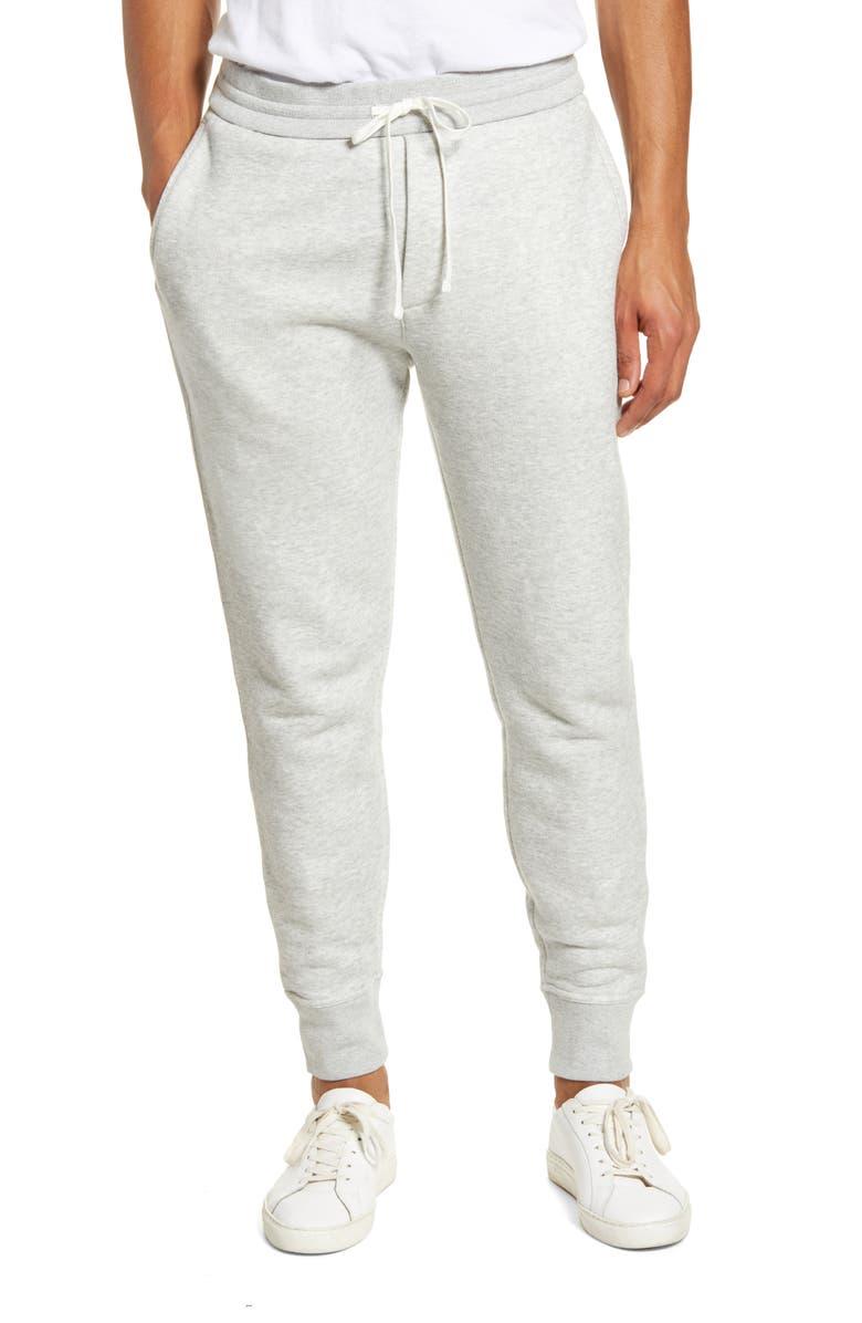 VINCE Slim Fit Sweatpants, Main, color, HEATHER GREY