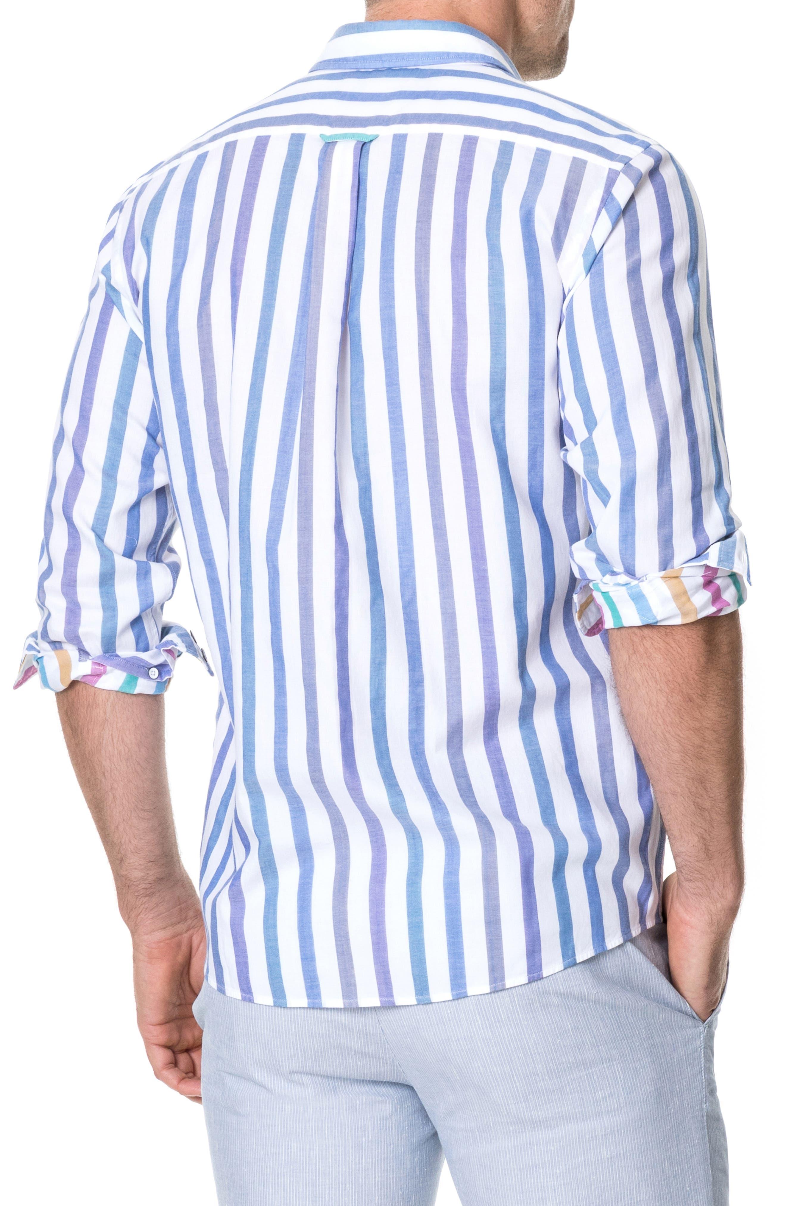 ,                             Haymarket Regular Fit Stripe Sport Shirt,                             Alternate thumbnail 2, color,                             CORAL REEF