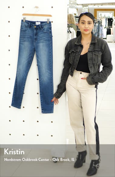 Denim High Waist Crop Skinny Jeans, sales video thumbnail