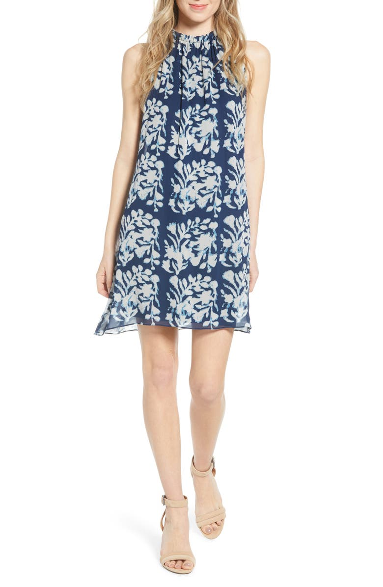 BAILEY 44 Andros Batik Sleeveless Shift Dress, Main, color, 401