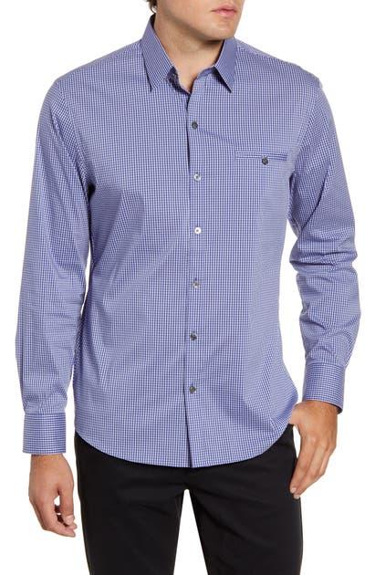Zachary Prell T-shirts OZEKIN REGULAR FIT CHECK BUTTON-UP SPORT SHIRT