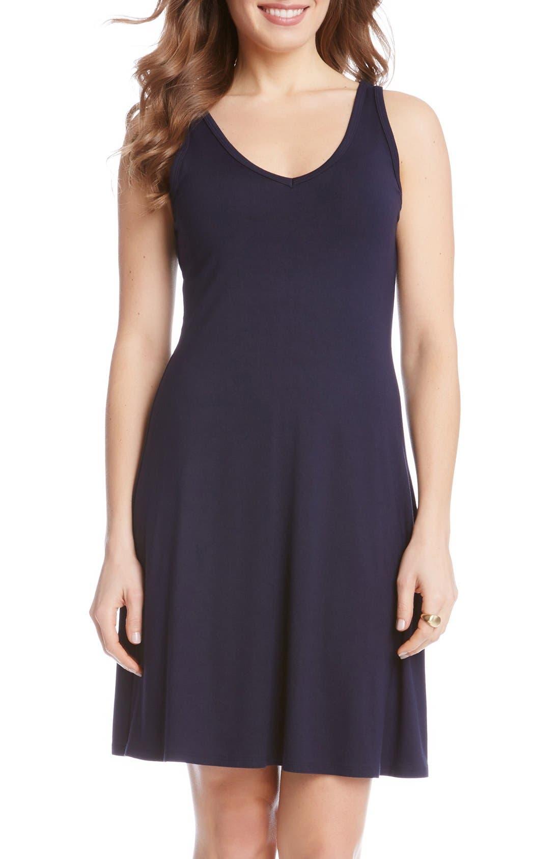 'Brigitte' Double V-Neck Jersey Dress